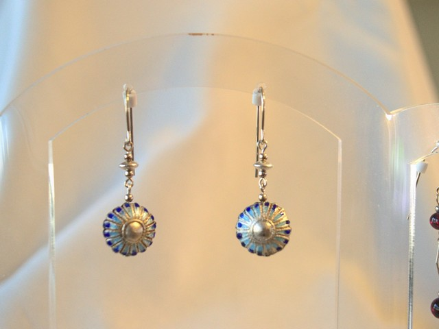 image of cloisonne earrings
