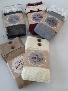 image of lace or button topped knee socks
