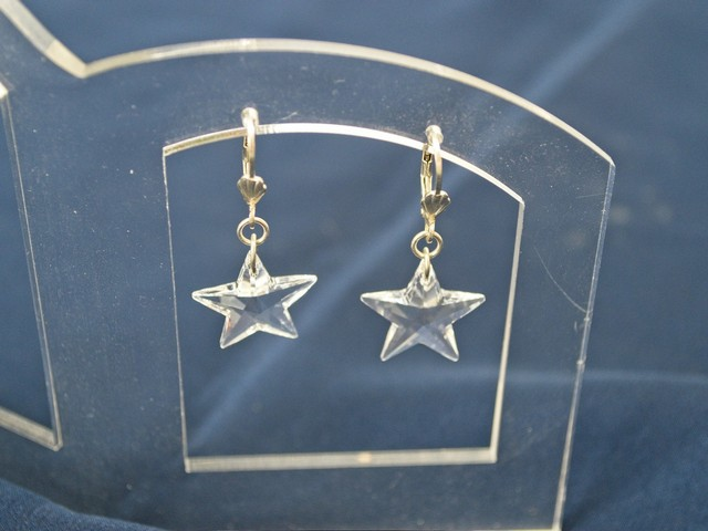 image of sterling silver and crystal earrings