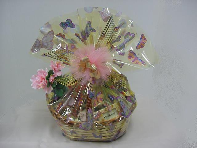 Gift baskets for mom image of beautifully wrapped gift basket for mom negle Image collections